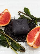 All-Natural Black Rice Grapefruit and Mint Leaves Shampoo Bar