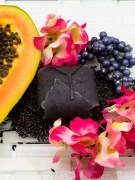 All-Natural Passion Fruit Plumeria Black Rice Shampoo Bar